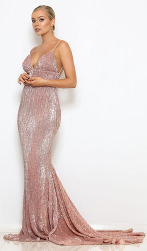 Zahra Gown- Champagne