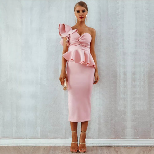 Starlet Ruffle Dress- Pink