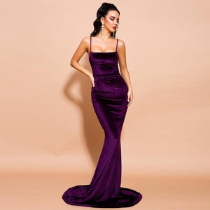 Tylea Gown- Plum - Top Glam Shop