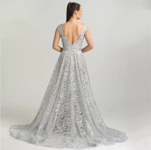 Venus Soiree Gown- Grey