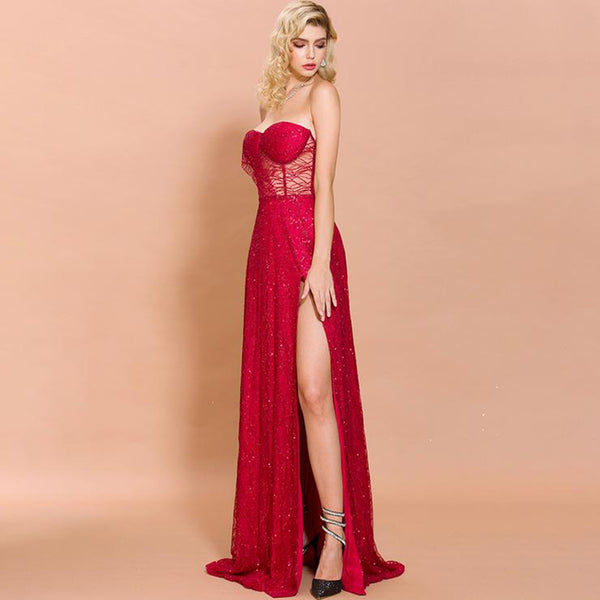 Vera Gown- Red - Top Glam Shop