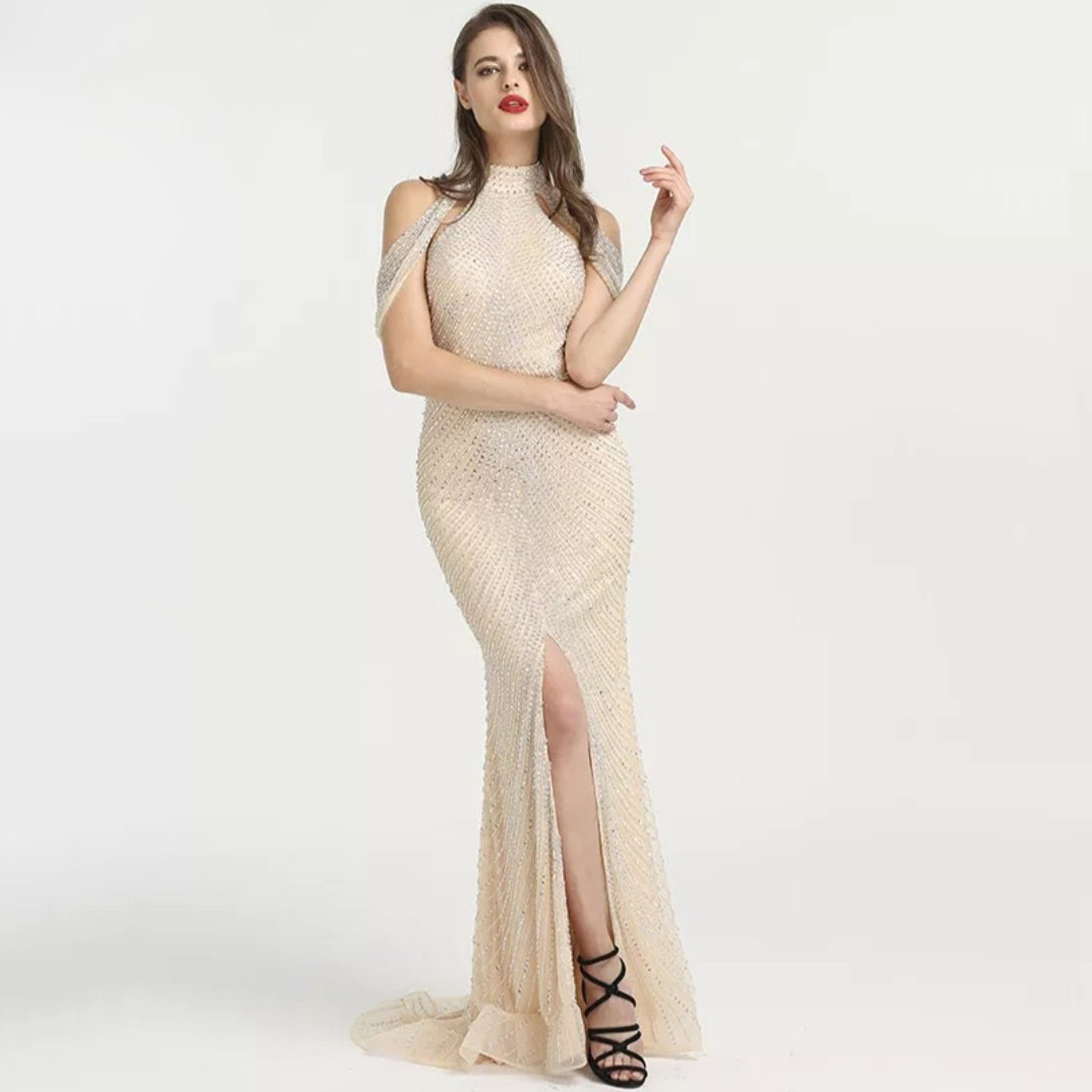 Yasmine Beaded Gown - Top Glam Shop