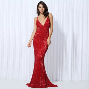 Zahra Gown- Red - Top Glam Shop