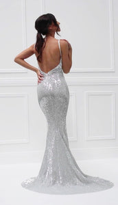 Zahra Gown- Silver