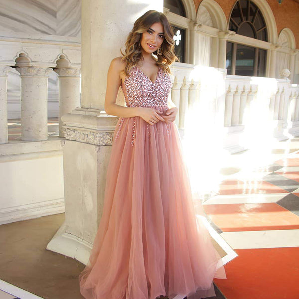 Zendaya Tulle Gown- Pink - Top Glam Shop