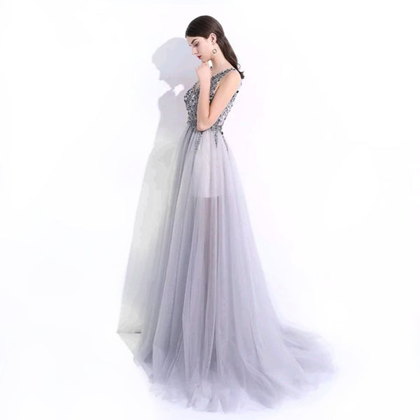 Zendaya Tulle Gown- Grey - Top Glam Shop