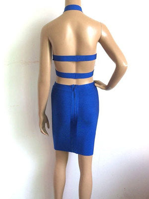 Cobalt Bandage Dress - Top Glam Shop