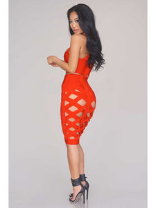 Layla Bandage Dress- Red