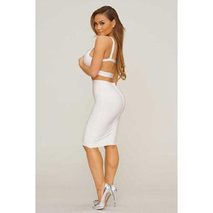Chloe Bandage Dress- White