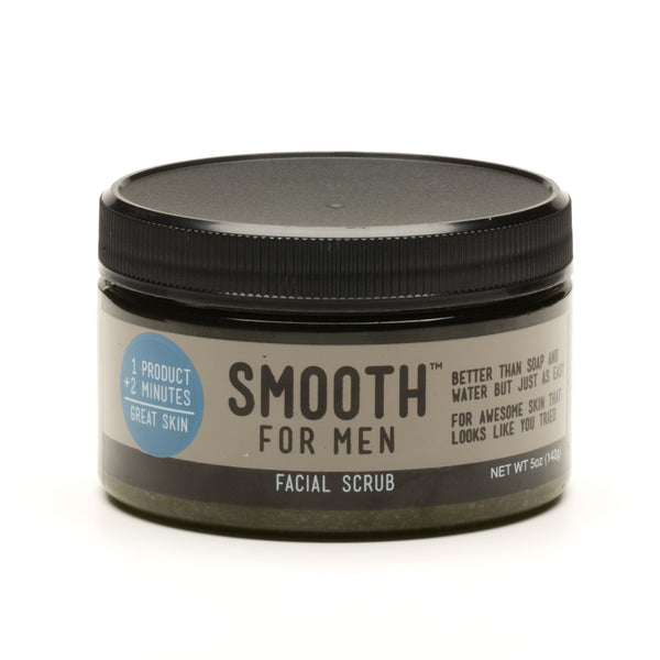 Green Tea Facial Scrub with Emu Oil - Smooth for Men