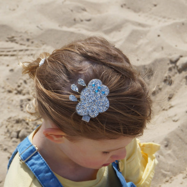 Glitter Rain Cloud Hair Clip