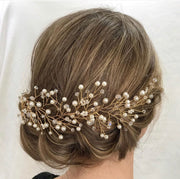 Pearl Wire Hair Vine