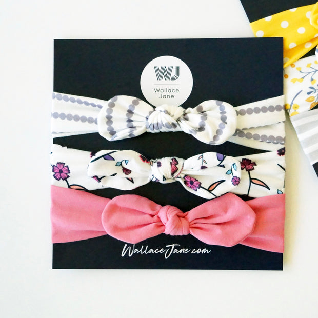 Top Knot Head Wrap 3 Pack