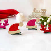 Sparkly Santa Hat Hair Clip (Large)