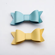 Vegan Leather Bow Hair Clip