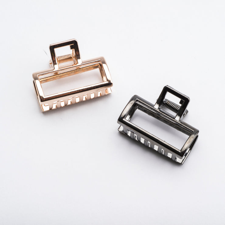 Rectangular Metal Hair Claw Clip