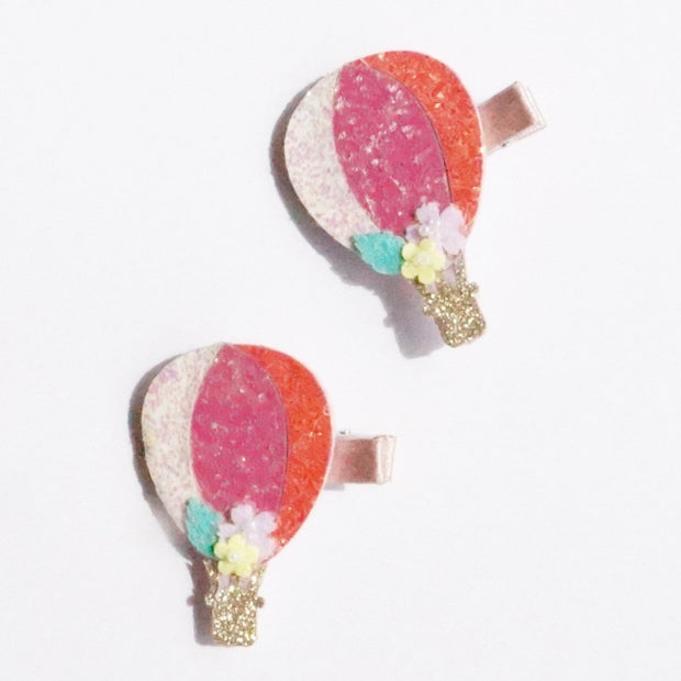 Sparkly Fluoro Hot Air Balloon Clip