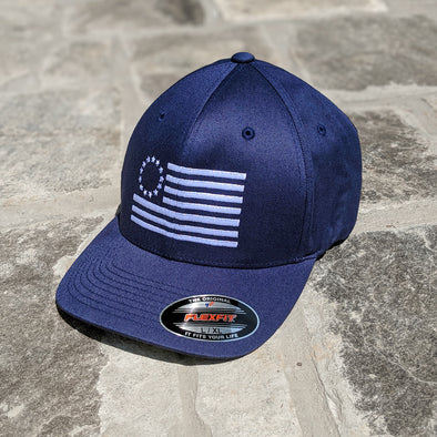 Betsy Ross Flag Navy Flexfit Hat