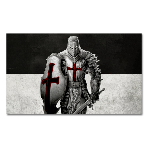 The Crusader Flag Decal
