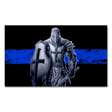 Thin Blue Line Crusader Decal