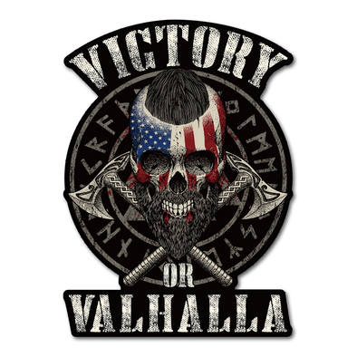 Victory or Valhalla Decal
