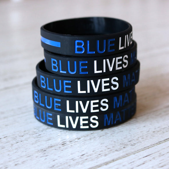 Blue Lives Matter Wristband