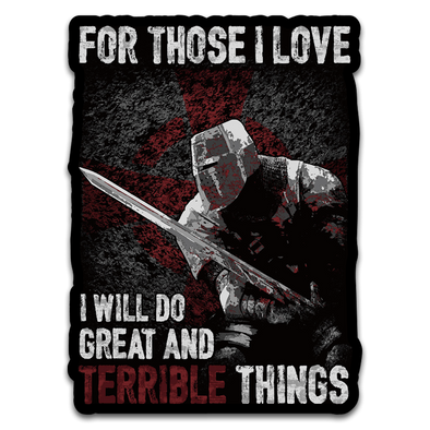 Great And Terrible Things Decal