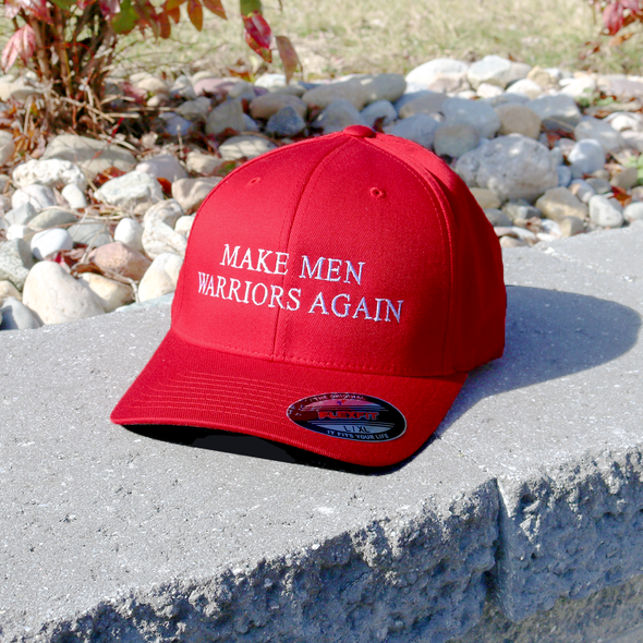 Make Men Warriors Again Red Flexfit Hat