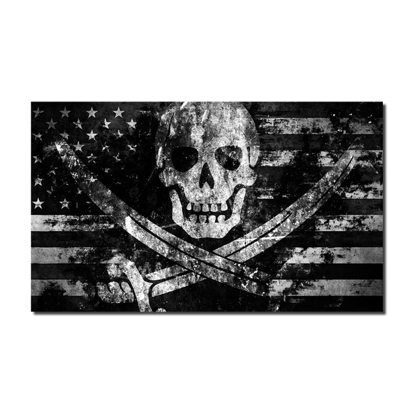 American High Seas Raider Flag Decal