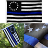 Embroidered Thin Blue Line Betsy Ross Flag