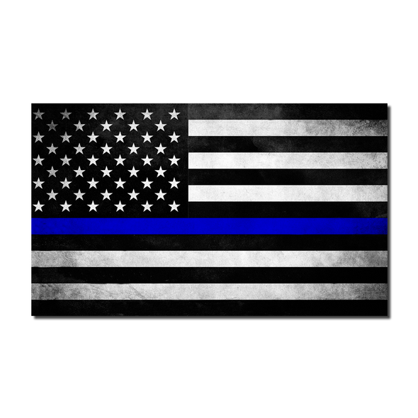 Thin Blue Line American Flag Decal