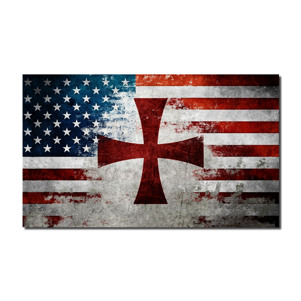 American Crusader Flag Decal