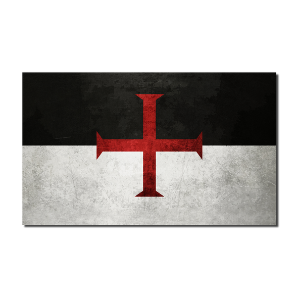 Knights Templar Classic Flag Decal