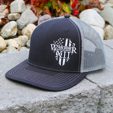 The Warrior Snapback Hat Black/Charcoal