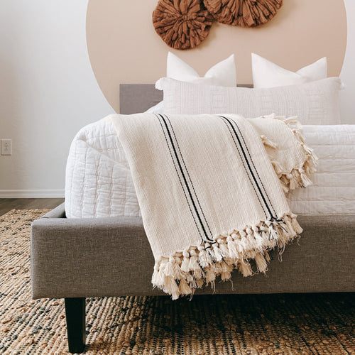 Sophie Artisan Handloom Turkish Cotton Blanket