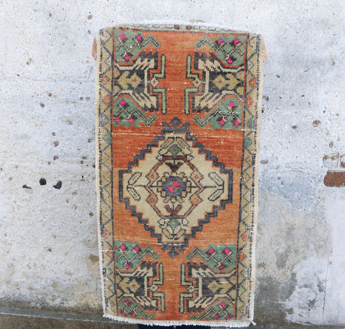 Arin - Small Handwoven Vintage Rug 19