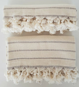 Deniz Turkish Hand Towel Set of 2