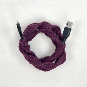 Handmade Macrame Lightning to USB A Cable - MFi Certified iPhone Charger - 3 foot