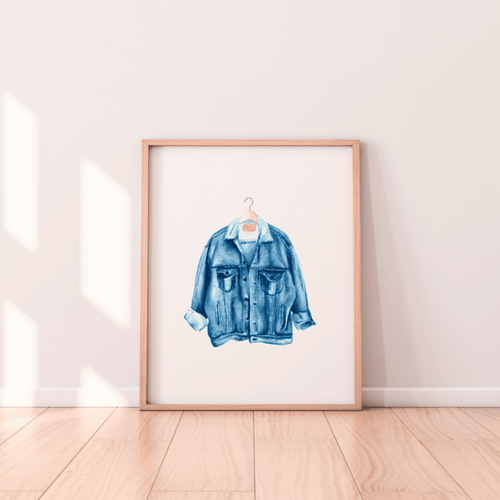 Denim Jacket Print