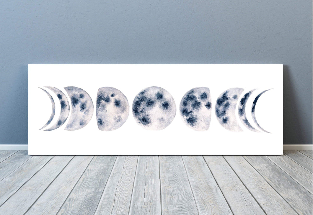 Moon Phases Strip Art Print