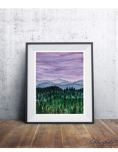 Load image into Gallery viewer, Hazy Purple Landscape Print