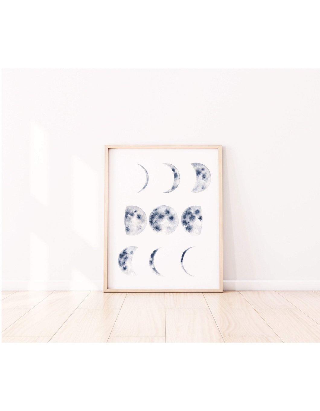 Moon Phases Chart Art Print