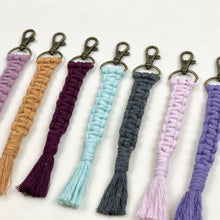 Load image into Gallery viewer, Handmade Macrame Keychain