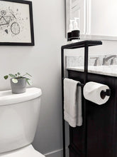 Load image into Gallery viewer, Steel & Ceramic Bathroom Caddy