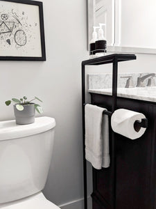 Steel & Ceramic Bathroom Caddy