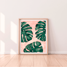 Load image into Gallery viewer, Monstera Leaf Art Print