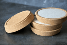 Load image into Gallery viewer, Large Concrete and Cork Coasters - Set of 4