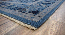 Load image into Gallery viewer, Hand-Knotted Blue Vintage-Inspired Gradient Rug
