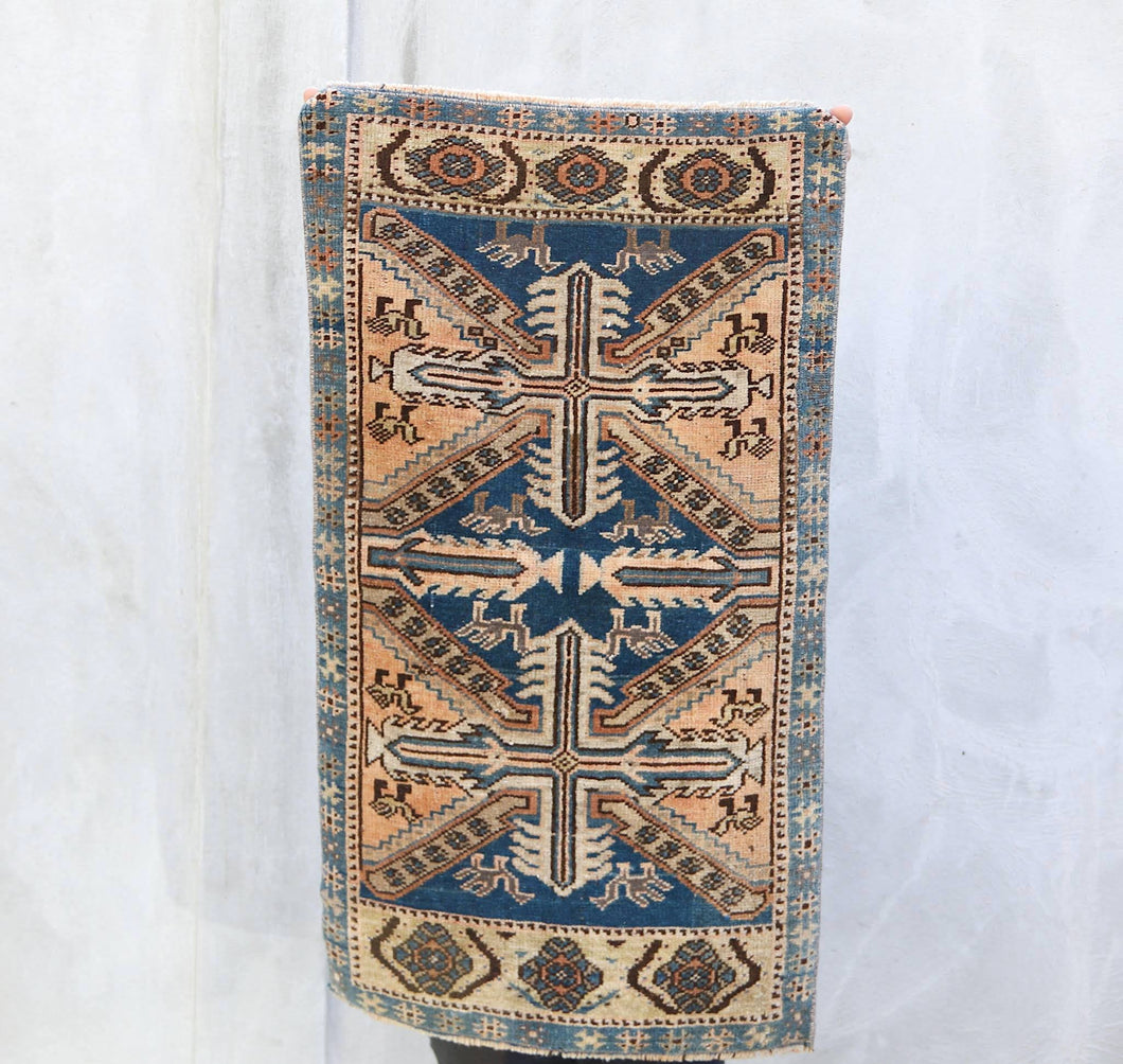 Tigris - Small Handwoven Vintage Rug 1'8x2'11