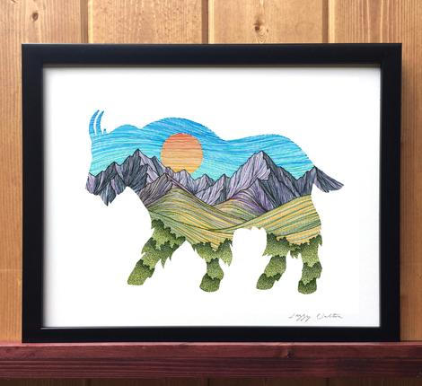Mountain Goat Print